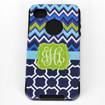 iPhone 5 Otterbox Commuter Case Monogrammed Personalized