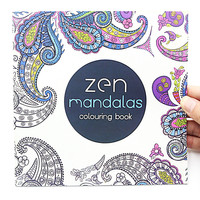 24 Pages Mandalas Flower Coloring Book For Children Adult Relieve Stress Kill Time Graffiti Painting Drawing Art Book