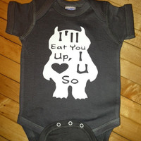 Cute Where The Wild Things Are Gruffalo Baby Onesuit- Pick Your Color. Pick Your Size.