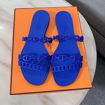 Hermes Solid color Sandal