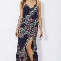Womens Paisley Printed Maxi - Foreign Exchange