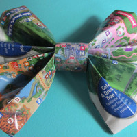 Magic Kingdom Park Map Bow by BabyBadger on Etsy