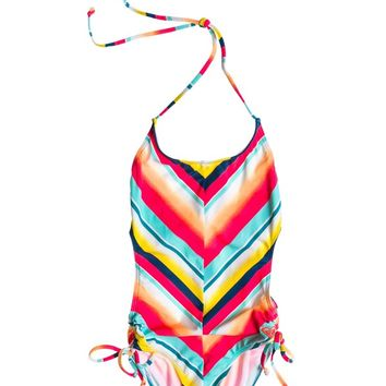 Roxy - Girls 7-14 Sunsetter Tri Monokini