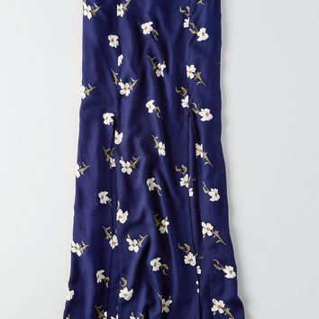 AEO Double-Slit Maxi Skirt, Navy