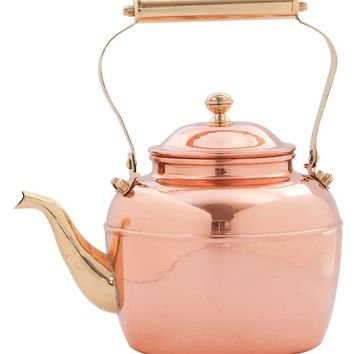 Old Dutch 2.5 qt. Solid Copper Tea Kettle with Brass Handle - Replacement for # 837 | www.hayneedle.com