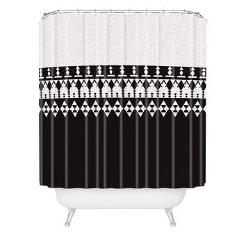Viviana Gonzalez Black and white collection 04 Shower Curtain