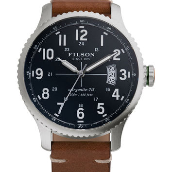 Filson Men's Mackinaw Stainless Steel Watch, 43mm - Silver