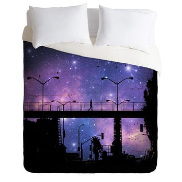Shannon Clark Night Walk Duvet Cover
