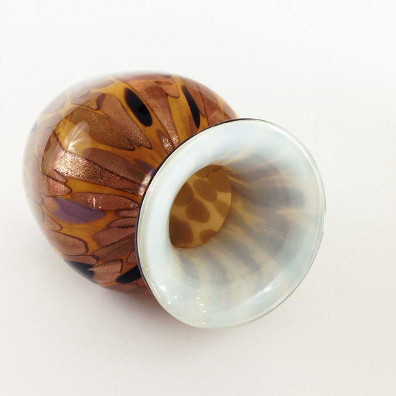 Glass Turtle Shell Decorative Centerpiece Bowl : Murano style art glass vase tortoise from firefly