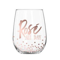 GLASS STEMLESS WINE ROSE ALL DAY