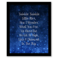 Twinkle Twinkle Little Star, Nursery Wall Art, Playroom Decor, Children's Art, Baby Room Decor, Playroom Art, Kids Room, INSTANT DOWNLOAD.