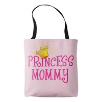 Princess Mommy with Golden Crown Tote Bag