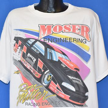 90s Moser Engineering Ron Miller Racing Engines t-shirt Extra Large