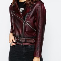 ASOS Premium Biker with Heavy Wash at asos.com