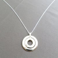 Double Circle Copper Pendant Necklace