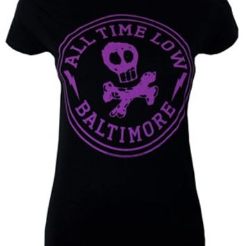 All Time Low Baltimore Ladies Black T-Shirt, Exclusive To Grindstore - Buy Online at Grindstore.com