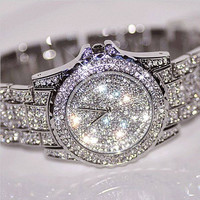 NEW Luxury Design Watches Fashion Women Rhinestone Watches Austria Crystal Ceramic Watch Quartz Wristwatches Lady Dress Watch = 1956386820