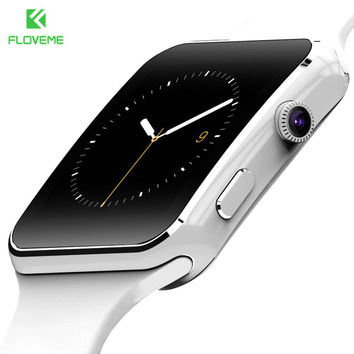 FLOVEME Fashion Smart Watch For Android Phone Support TF Card 32GB Sim Bluetooth Smartwatch 1.54'' HD OGS Fitness Wrist Bracelet