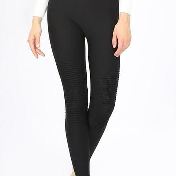 Moto Leggings With Seamless Fit