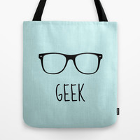 GEEK IN ACQUA Tote Bag by colorstudio
