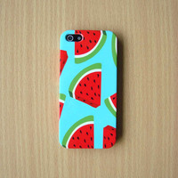 Pastel Watermelon Pattern iPhone Case Color Watermelon Phone case iPhone 5S iPhone 5 iPhone 5C Samsung Galaxy S4 iPhone Plastic Hard case