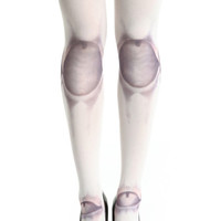 "ROMWE | ""Spherical Joint"" White Tights, The Latest Street Fashion"