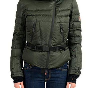 Moncler CORRENCON Women's Green Hooded Down Parka Jacket Moncler Sz 1 US S