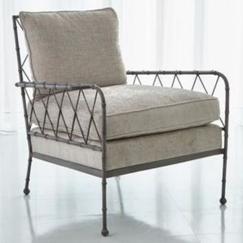 Bamboo Lounge Chair Antique Grey