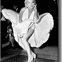 Original Marilyn Monroe Pose Picture on Acrylic , Wall Art Décor, Ready to Hang!