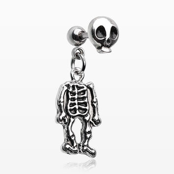 Skeleton Dangle Cartilage Tragus Barbell