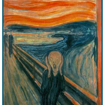 Symbolist Artist Edvard Munch's The Scream Counted Cross Stitch or Counted Needlepoint Pattern