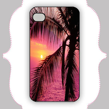iPhone Case- Pink Sunset Case- iPhone 4 Case, iPhone 4s Case, iPhone 5 Case, Monogram Case, Personalized iPhone Case