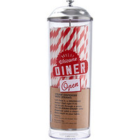 Jamie Oliver Metallic Straw Dispenser And Straws