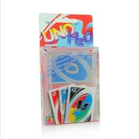 2016 NEW Waterproof and fold the plastic version of luxury UNO Poker Card Game Playing Cards