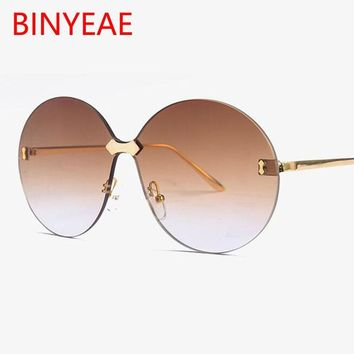 Aviation Round female glasses luxury vintage big round sunglasses women Large oversized sun glasses men brand tinted brown glass