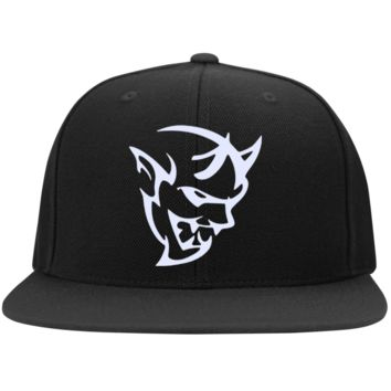DODGE DEMON 2 STC19 Sport-Tek Flat Bill High-Profile Snapback Hat