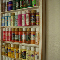 Wood Shelf Craft Art Supply Storage Sewing by honeystreasures