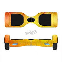 The Orange Vibrant Texture Full-Body Skin Set for the Smart Drifting SuperCharged iiRov HoverBoard