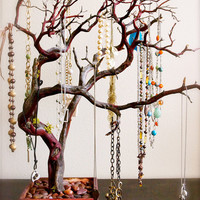 $80.00 Red Jewelry Tree by heartnotincluded on Etsy