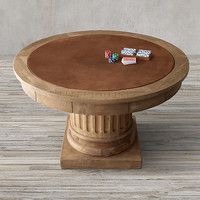 Salvaged Wood Architectural Column Game Table