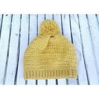 Honey Mustard Winter Beanie