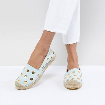 Selected Femme Suede Espadrille With Metallic Print at asos.com