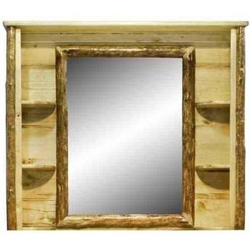 Montana Woodworks - Glacier Country Collection Deluxe Dresser Mirror