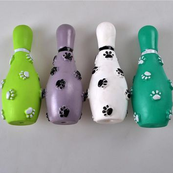 Family Friends party Board game Bowling pet toys rubber material dog molars toys wear resistant bite color random delivery 171107-15 AT_41_3