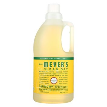 Mrs. Meyers Clean Day 64 oz Honeysuckle Laundry Detergent - Case of 6