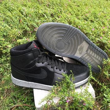 Air Jordan 1 AJ1 Retro High OG NYC Black Gray Men Sneaker