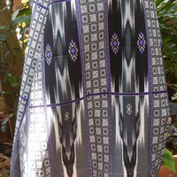 man's sarong grey and black MG2