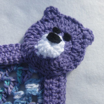 Crocheted Teddy Bear Snuggie Blanket by crochetedbycharlene