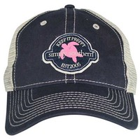 Simply Southern Preppy Collection Turtle Hat in Navy HAT-SSTURTLEFELT-SEAFOAM