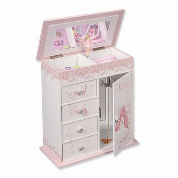 Graphic Wrap Ballerina Musical Jewelry Box